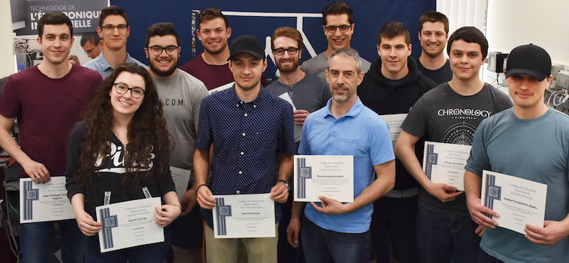 Cegep Valleyfield boursiers 2018 programme Technologie electronique industrielle photo via ColVal publiee par INFOSuroit