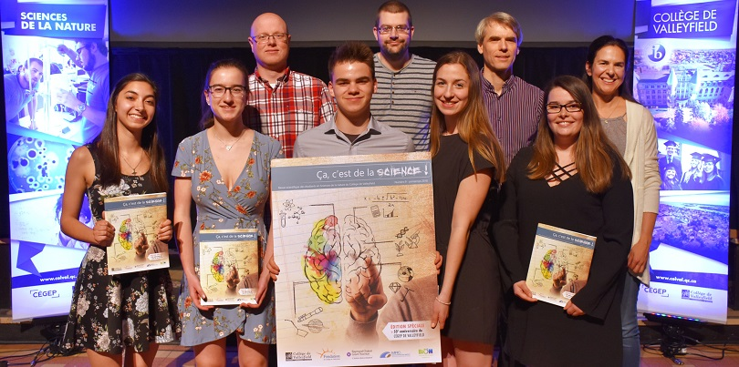 Cegep de Valleyfield Revue scientifique membres comite mai2018 photo ColVal via INFOSuroit