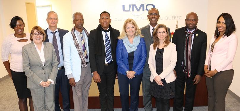 Maude_Laberge et delegation elus locaux haitiens lors d_une mission a Mtl mars 2018 Programme cooperation UMQ