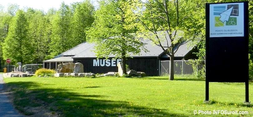 Pointe-du-Buisson Musee quebecois archeologie a Beauharnois avec enseigne mai2013 photo INFOSuroit