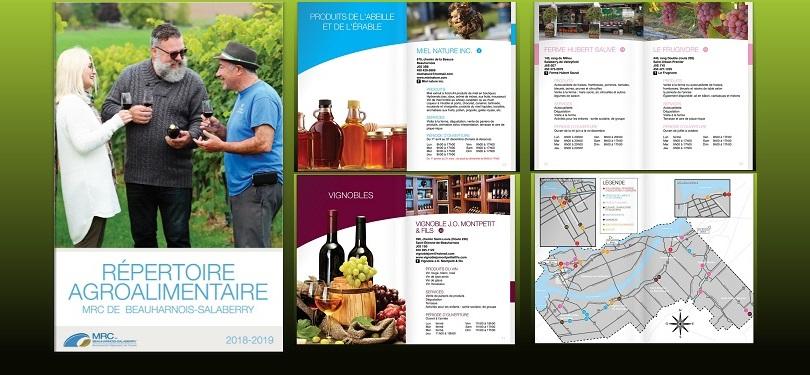 Repertoire agroalimentaire 2018-19 MRC de Beauharnois-Salaberry couverture et autres pages