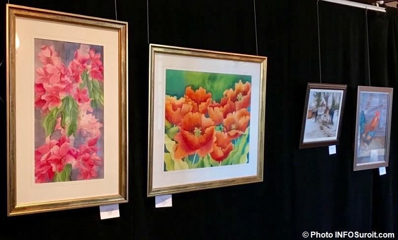 Valedar 2018 4 tableaux dont 2 de Francine_Crevier photo INFOSuroit-AM