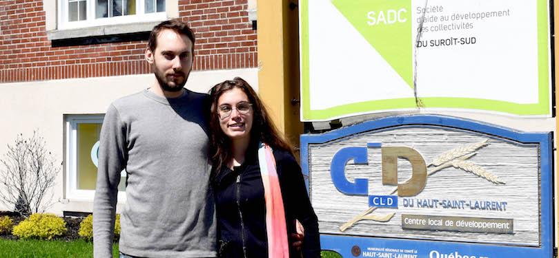 Virgile_Carle et Marianne_Roux Place aux jeunes photo courtoisie CLD Haut-Saint-Laurent