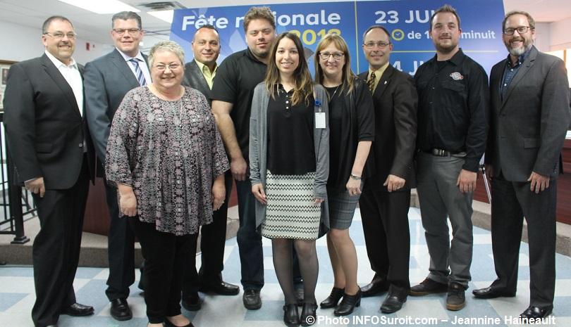 annonce fete nationale 2018 Mercier membres du conseil municipal et comite organisateur photo INFOSuroit-Jeannine_Haineault
