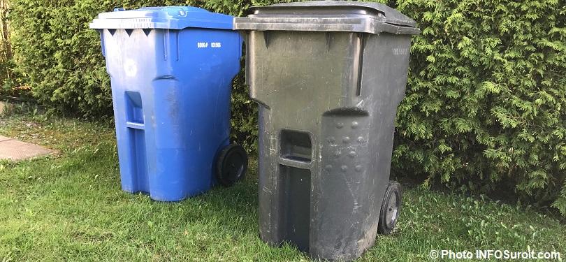 bacs de recuperation et dechets matieres recyclables et residuelles photo INFOSuroit