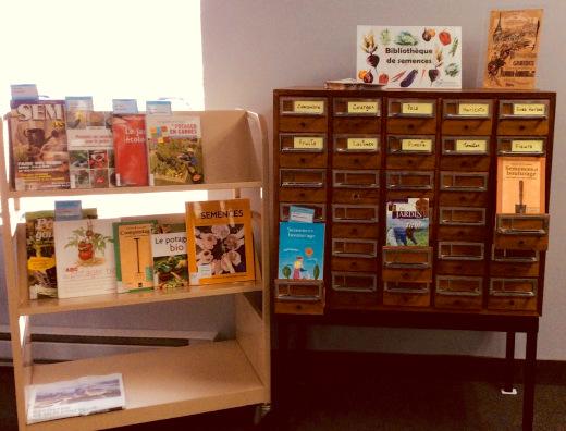 bibliotheque de semences a la biblio secteur St-Timothee a Valleyfield collaboration incroyables comestibles photo courtoisie