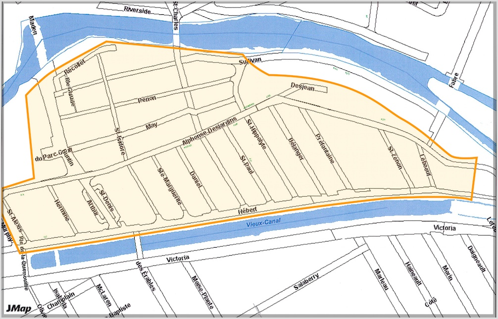 carte operation rincage reseau aqueduc quartier Champlain Valleyfield visuel courtoisie SdV