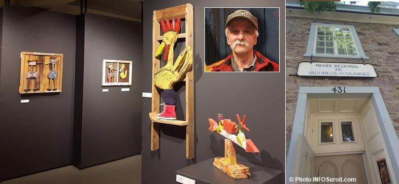exposition sculpteur Roger_Brabant au Musee regional VS photo MRVS et entree musee photo INFOSuroit