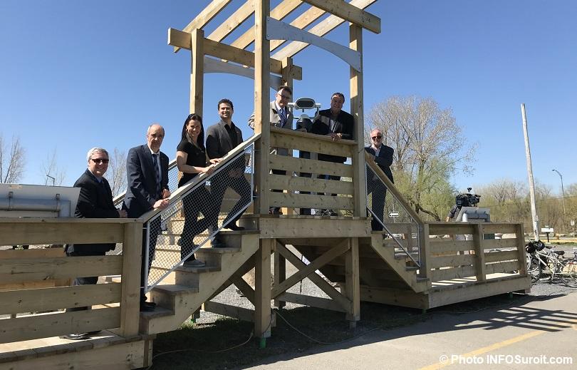 halte des plaisanciers nouvelles installations elus et partenaires mai 2018 photo INFOSuroit
