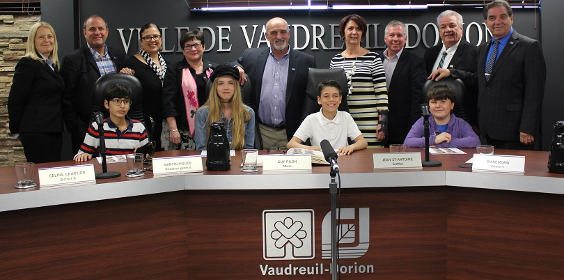 maire mairesse et conseil d_un jour Vaudreuil-Dorion 2018 photo courtoisie publiee par INFOSuroit