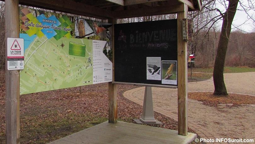 panneau interpretation Centre ecologique Fernand-Seguin a Chateauguay avr2018 photo INFOSuroit