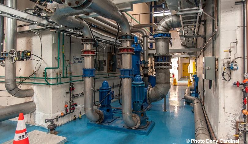 portes ouvertes usine traitement des eaux de Valleyfield pompes tuyaux Photo Deny_Cardinal via SdV