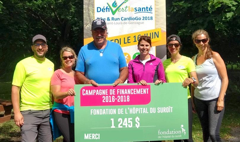 Defi vert la sante 2018 devoilement du montant photo courtoisie Fondation
