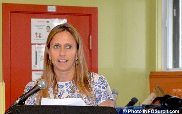 Suzie_Dubuc directrice ecole N-D-de-l-Assomption a St-Stanislas juin 2018 photo INFOSuroit