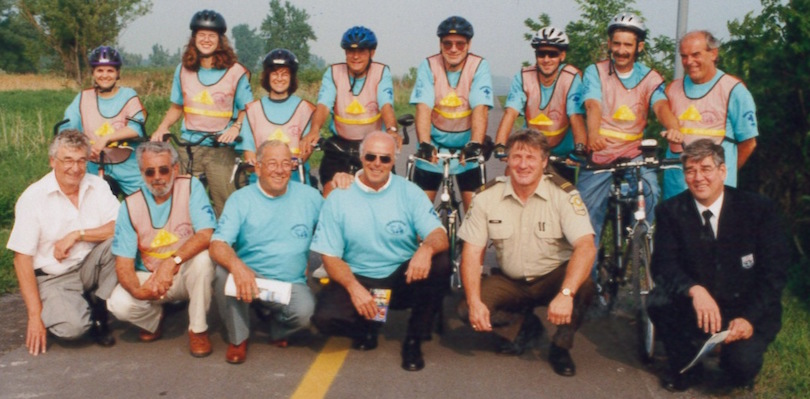 Velo-patrouilleurs 1999 lancement patrouille velo-berge photo via MRC Beauharnois-Salaberry