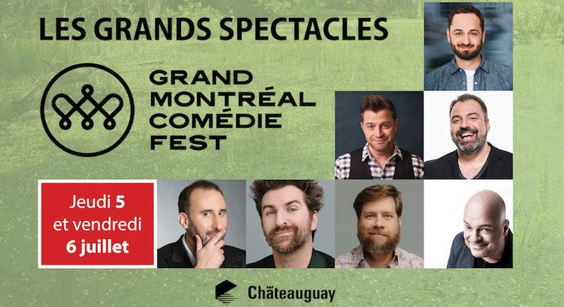 a Chateauguay en juillet Grands_spectacles Grand Mtl Comedie_Fest visuel courtoisie VC