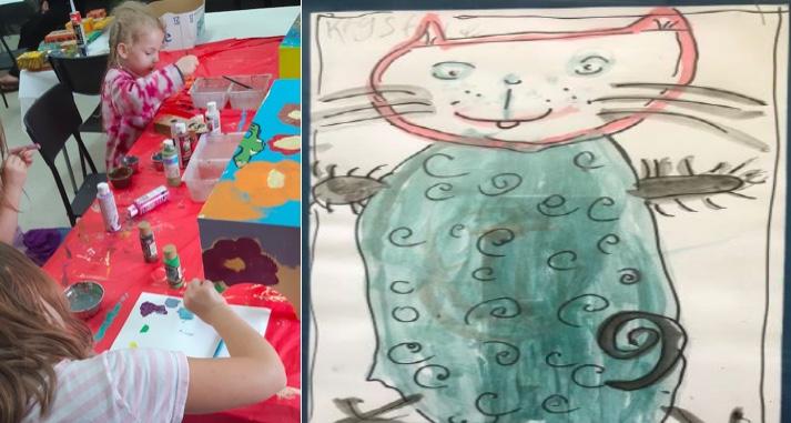 art enfantin des enfants de la Maison des enfants Marie-Rose photos via MRC