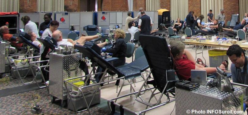 collecte de sang avec Hema-Quebec periode estivale donneurs photo INFOSuroit