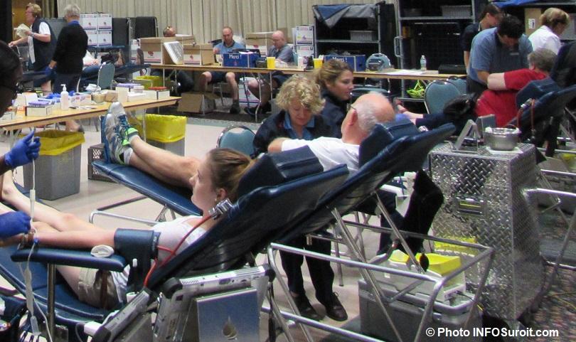collecte de sang donneurs clinique Hema-Quebec photo INFOSuroit