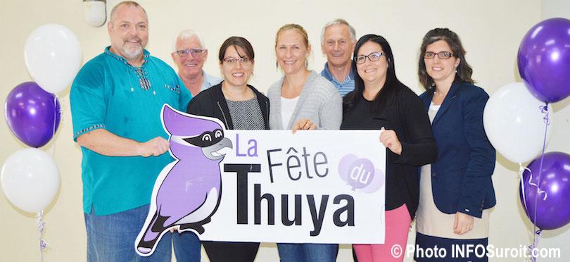 comite organisateur Fete du Thuya Les Cedres 2018 photo INFOSuroit