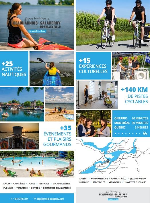 depliant touristique 2018 region Beauharnois-Salaberry visuel courtoisie CLD