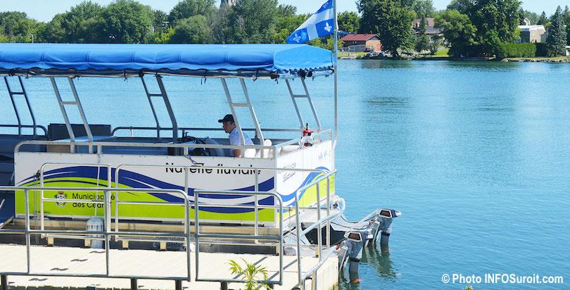 navette fluviale Les_Cedres et Valleyfield ponton bateau electrique photo INFOSuroit