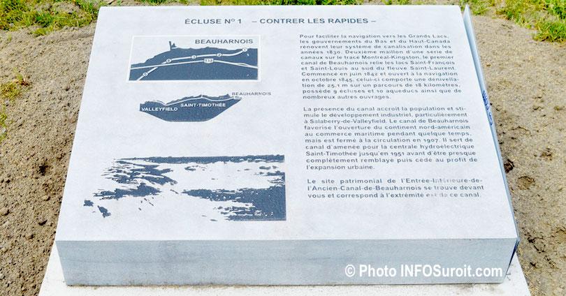 panneau Ecluse 1 du circuit patrimonial de Beauharnois juin2018 photo INFOSuroit_com