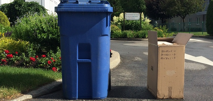 recyclage bac recuperation collecte surplus de carton photo courtoisie MRC