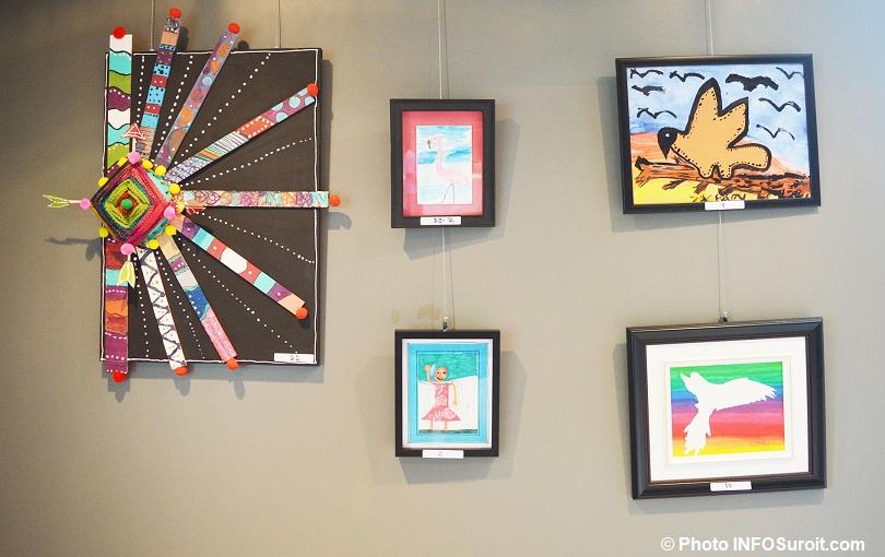 vernissage exposition Maison des enfants galerie MRC a Beauharnois oeuvres photo INFOSuroit