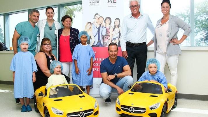 Fondation Anna-Laberge mini-voitures enfants hopital de Chateauguay photo courtoisie FAL