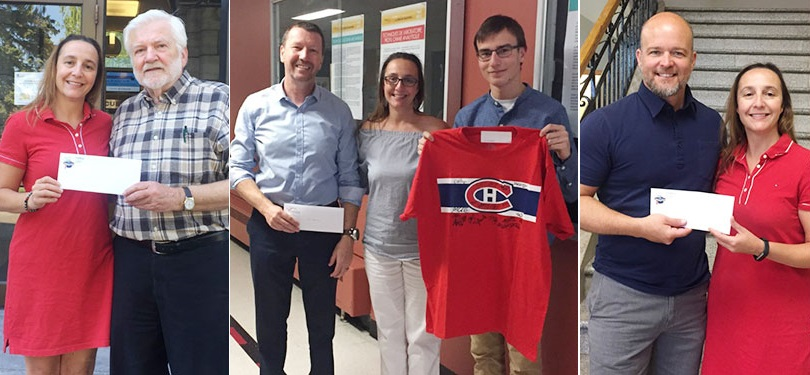 Gagnants du pool de hockey 2018 Fondation College de Valleyfield photos courtoisie