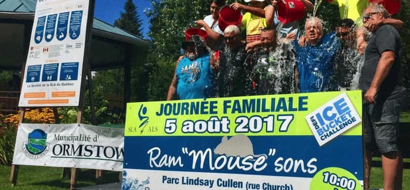 Journee Ram Mouse Sons Ormstown Defi Ice Bucket Challenge 2017 de la SLA photo courtoisie