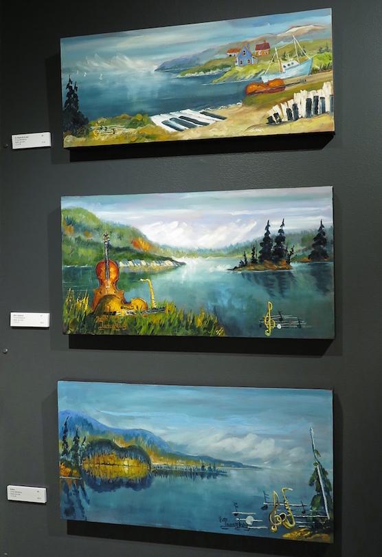 des toiles exposition Yvon_Duranleau au Musee regional Vaudreuil-Soulanges