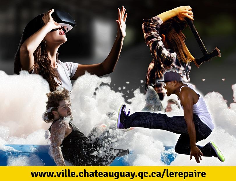 evenement repaire a Chateauguay realite virtuelle skate lancer hache danse et plus visuel Ville Chateauguay