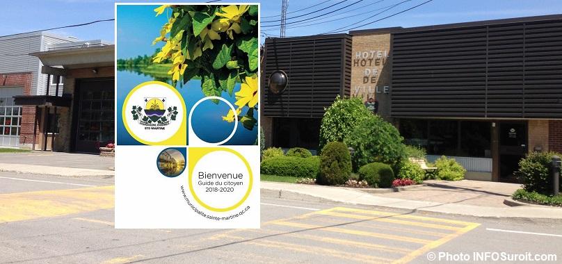 hotel de ville municipalite de Sainte-Martine saison estivale photo INFOSuroit et Guide du citoyen 2018