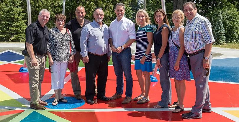 inauguration jeux_d_eau Vaudreuil-Dorion 17 juillet 2018 photo courtoisie