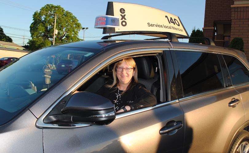mairesse de Mercier Lise_Michaud lancement taxi collectif gratuit avec exo photo courtoisie VM