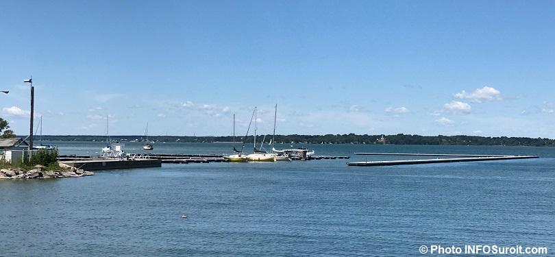marina Beauharnois 7 juillet 2018 avec brise-lame amovibles bateaux voiliers photo INFOSuroit