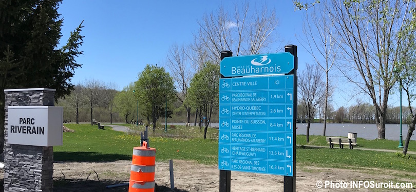 parc Riverain Beauharnois mai 2018 baie lac St-Louis photo INFOSuroit