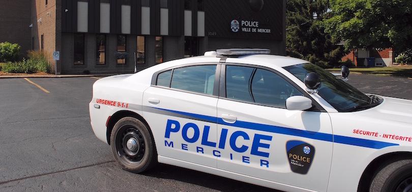 poste de police Ville Mercier avec autopatrouille photo courtoisie VM