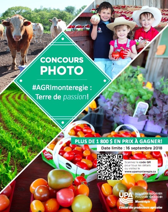 Concours photo UPA 2018 image courtoisie