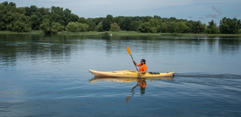 Kayak Beauharnois-Salaberry sur lac Saint-Louis photo courtoisie CLD