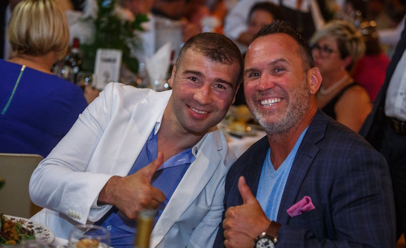 Lucian Bute et Dave Morissette Omnium Golf Robert_Thibert 2018 pour Fondation_Anna-Laberge photo Denis_Germain via FAL