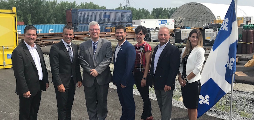 annonce investissement au Port de Valleyfield 8aout2018 photo courtoisie