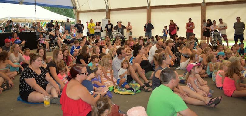 assistance spectacle pour enfants Festival de la grillade 2018 St-Zotique Photo courtoisie St-Zo