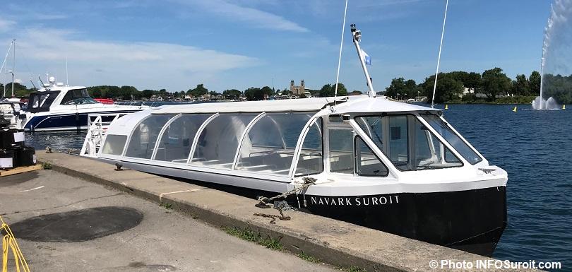 bateau de croisiere Navark_Suroit pret pour embarquement a Valleyfield juil2018 photo INFOSuroit