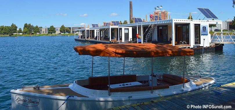 bateau electrique AquaPiknik et Fltel centre-ville Valleyfield aout2018 photo INFOSuroit
