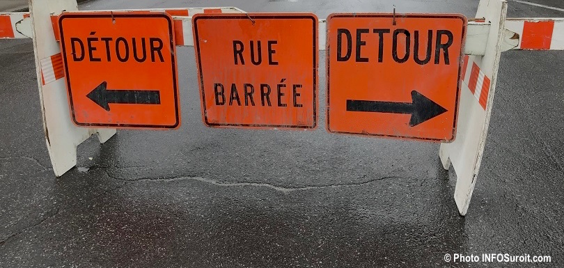 travaux circulation locale rue barree detour photo INFOSuroit_com