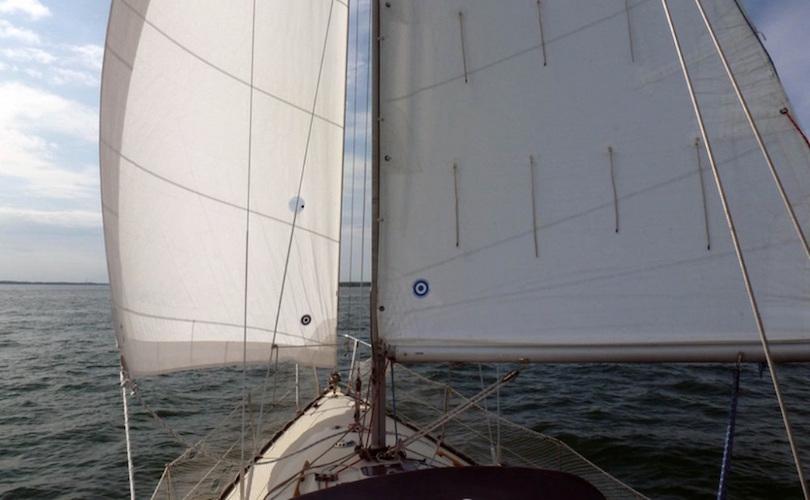 voilier sur lac St-Louis Beauharnois ecole Pare_a_virer photo courtoisie CLD