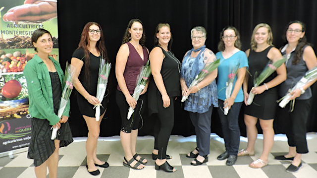Agricultrices Monteregie-Ouest candidates Gala Hommage 2018 photo courtoisie AMO